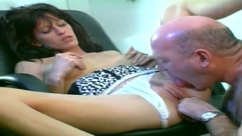 secretary makes blowjob and anal
